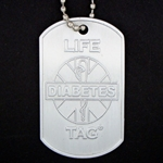 LIFETAG Embossed Aluminum Dogtag Medical ID LIFETAG, embossed, Aluminum, Dogtag, Medical ID