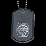 LIFETAG Engraved Aluminum Dogtag Medical ID LIFETAG, Engraved, Aluminum, Dogtag, Medical ID