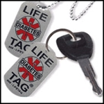 LIFETAG Medical ID Aluminum Dog Tag and Key Chain Set LIFETAG, Medical ID, Aluminum, Dog, Tag, Key Chain Set